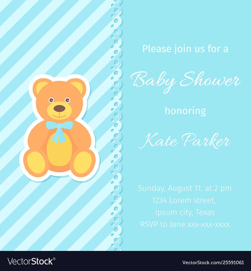 Bashower Card Design Birthday Template Invite