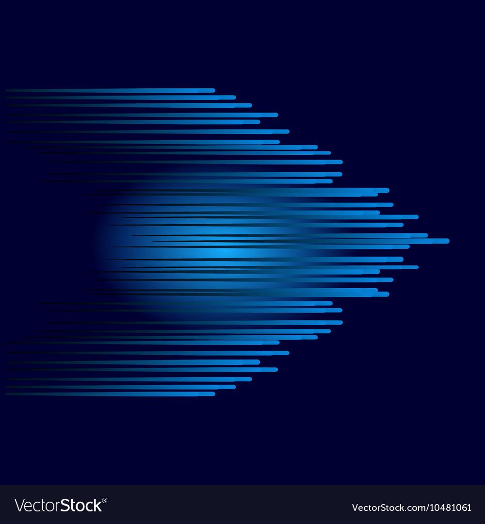Blue abstract arrow