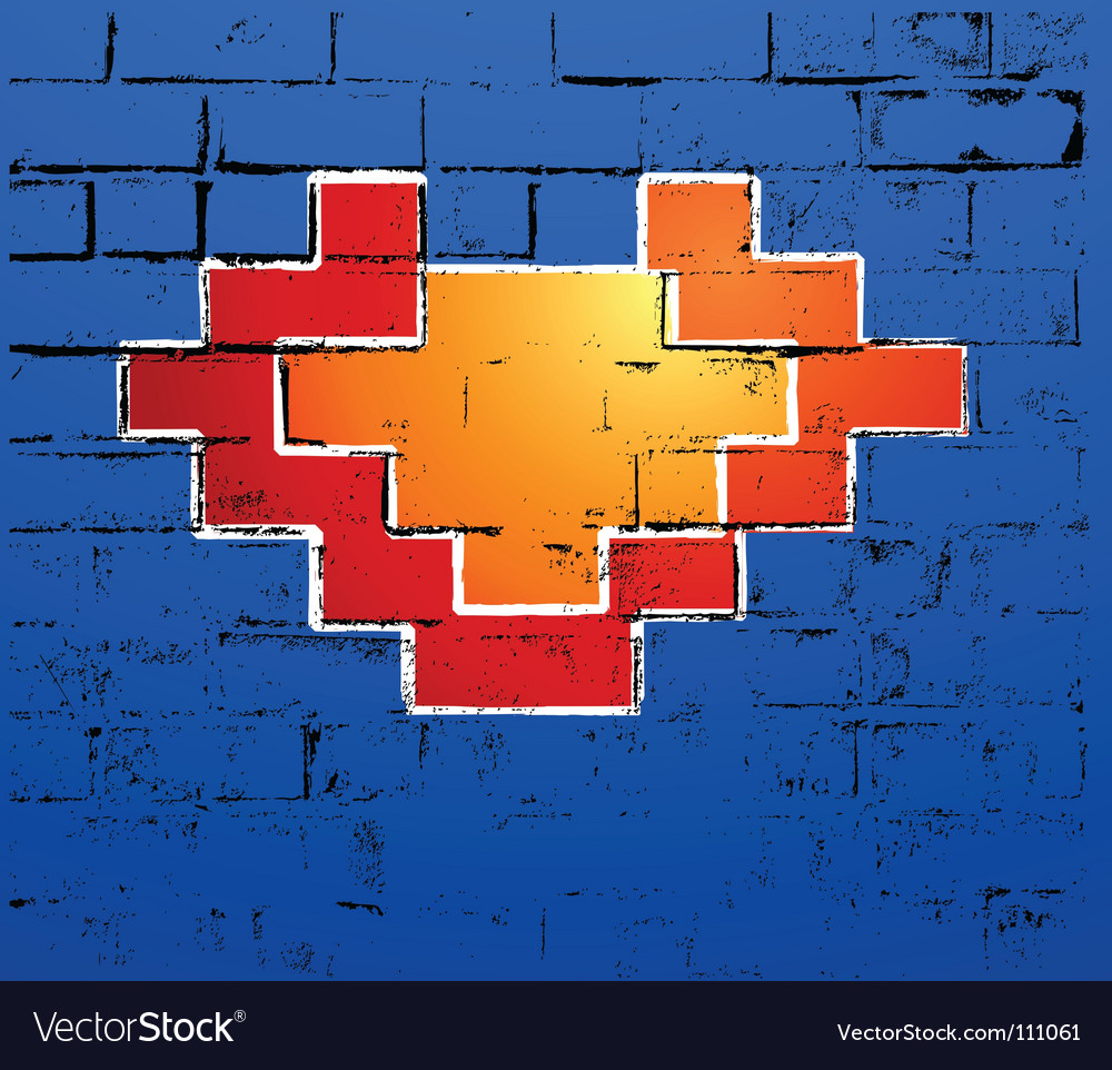 Graffiti heart vector image