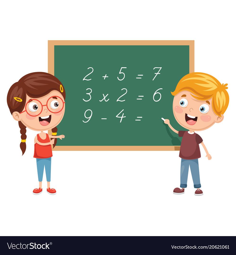 Kids having math lesson