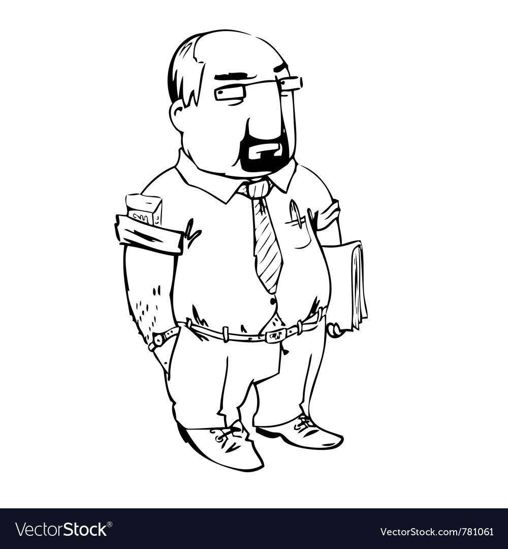 Sketch businessman vector image