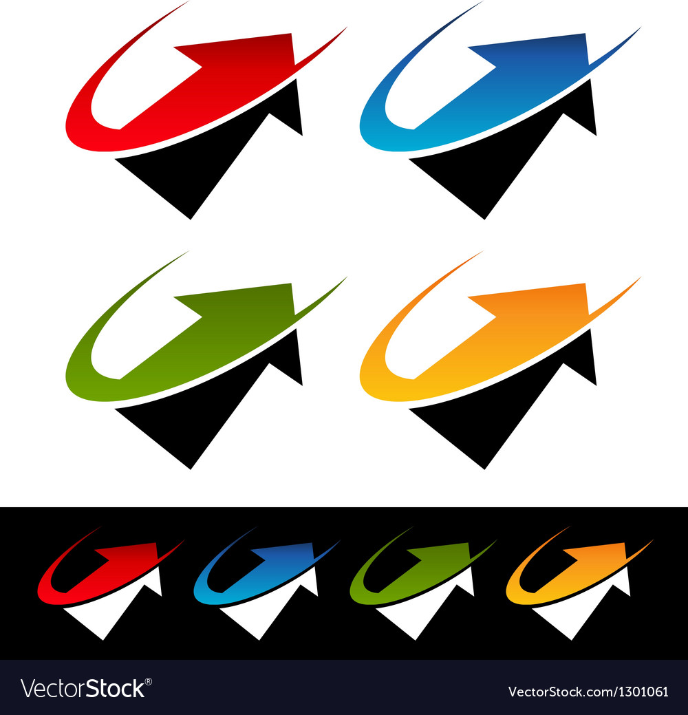 Swoosh Arrow Logo Icons vector image