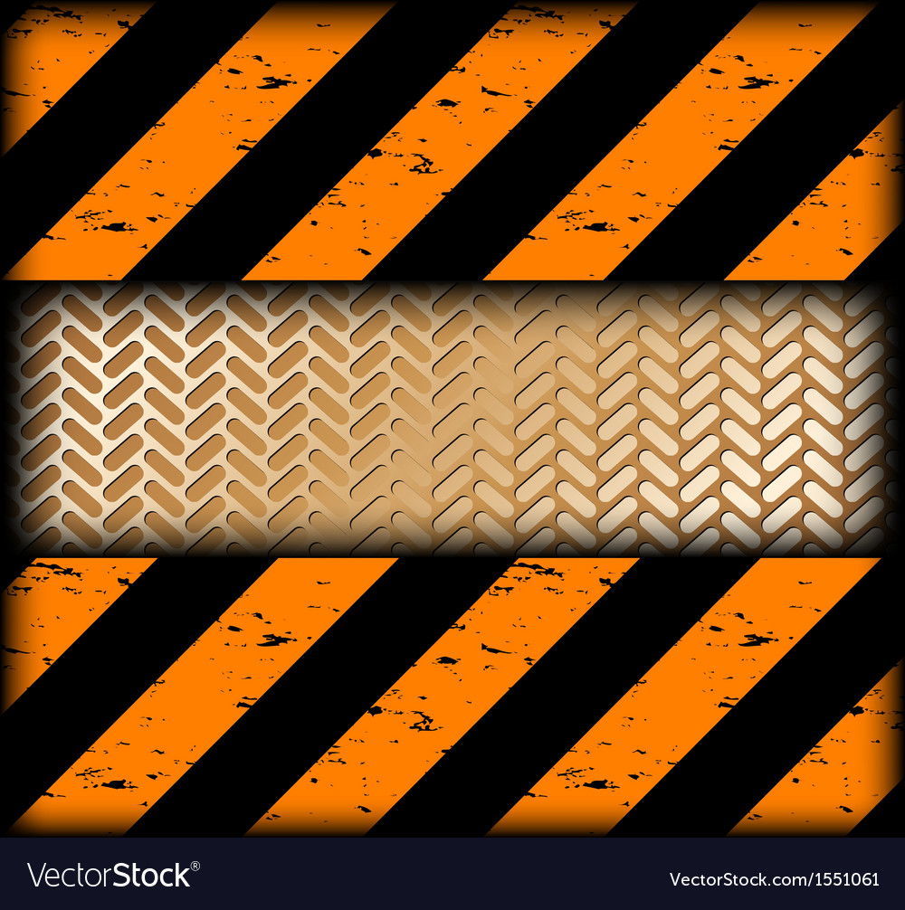 Warning strips with gold texture