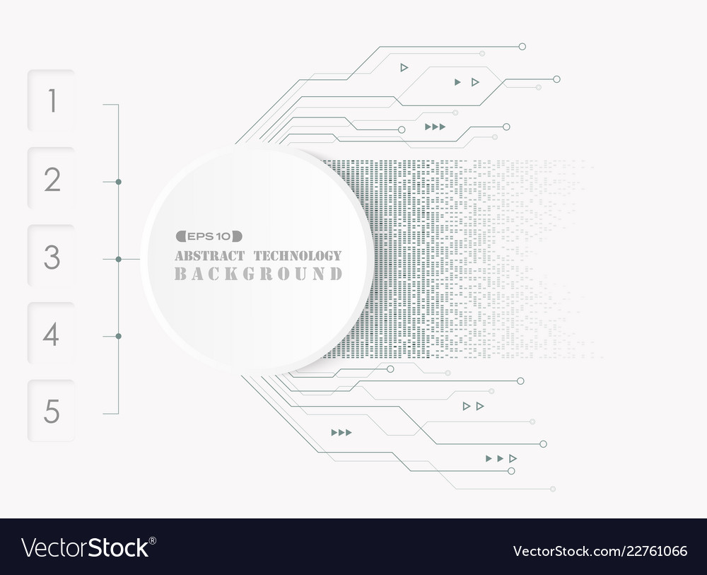 Abstract of electronic futuristic system