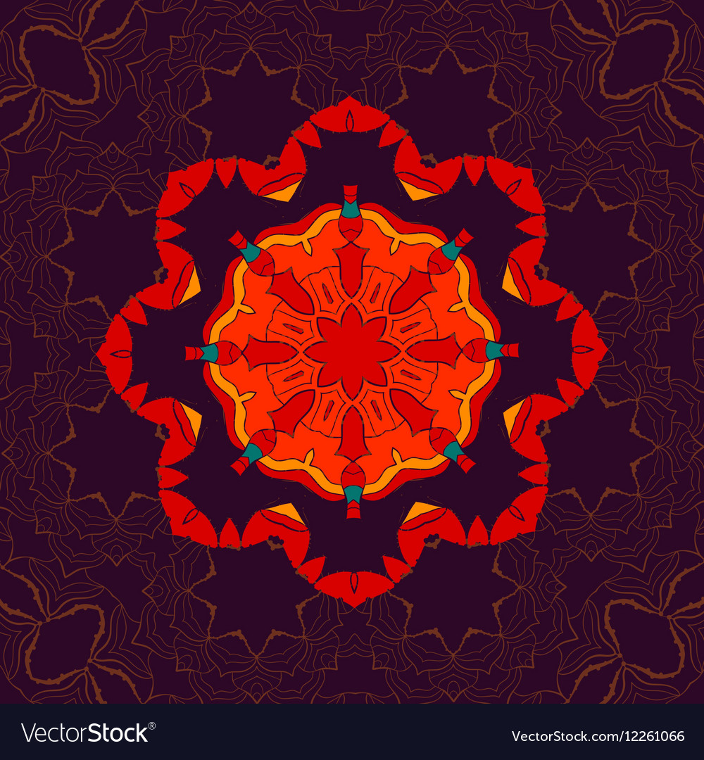 Beautiful Indian floral seamless ornament print