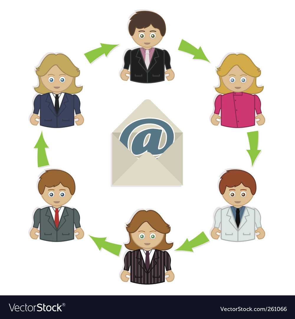 Business email vector image