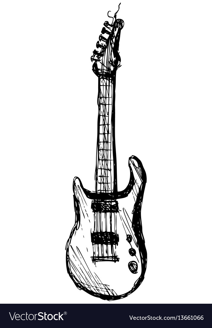 Guitar over white background