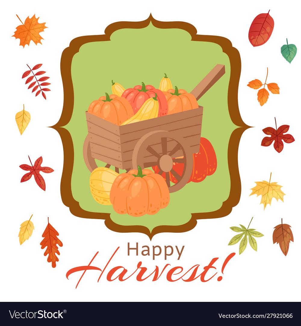 Happy thanksgiving pumpkins of