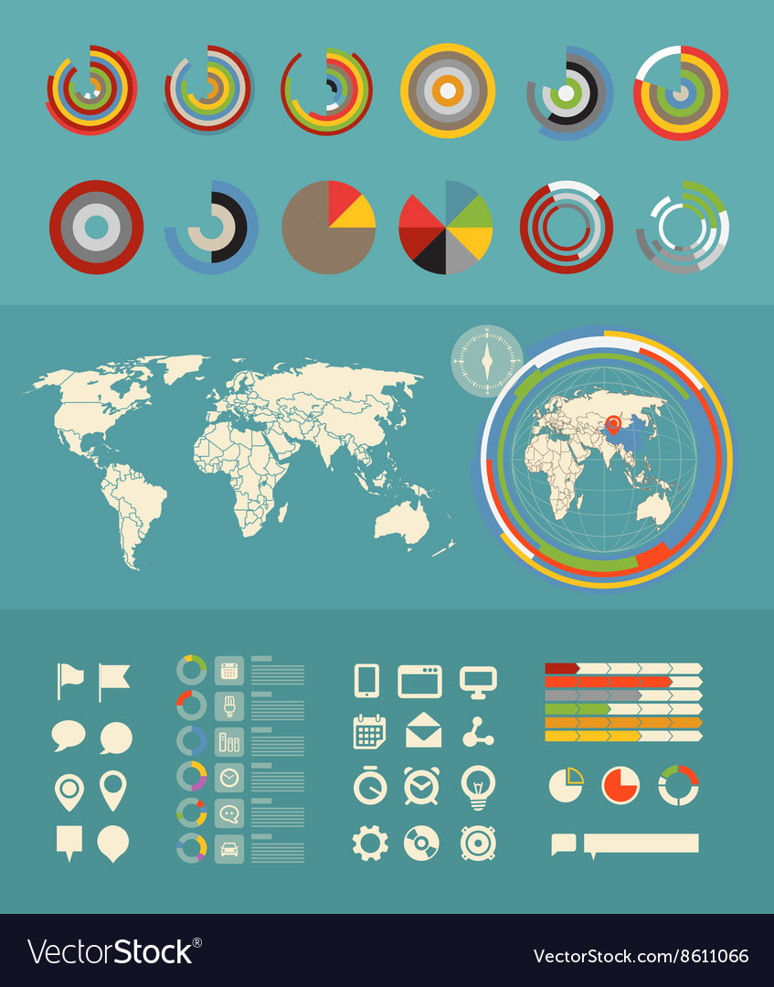 Infographic elements clip-art Flat design elements