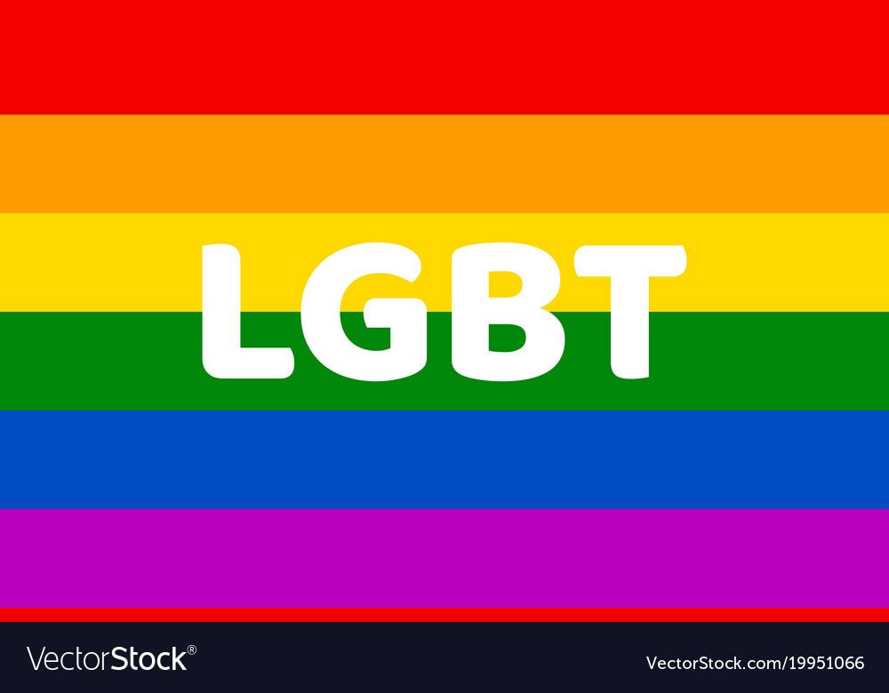 Lgbt Rainbow Flag Color Clipart Royalty Free Vector Image