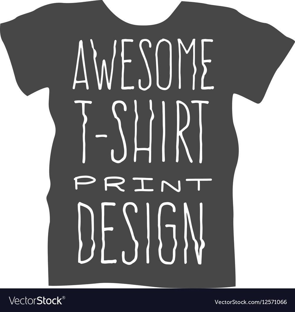 Men T Shirt Design Template Royalty Free Vector Image