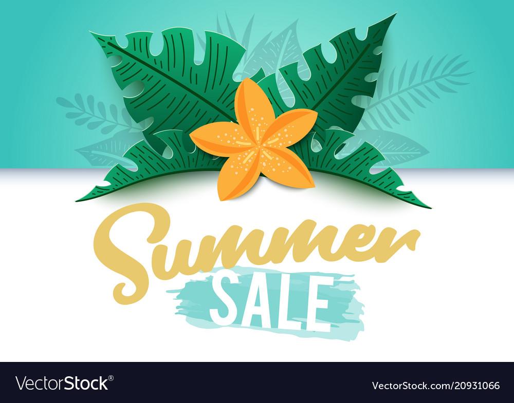 Tropical summer sale