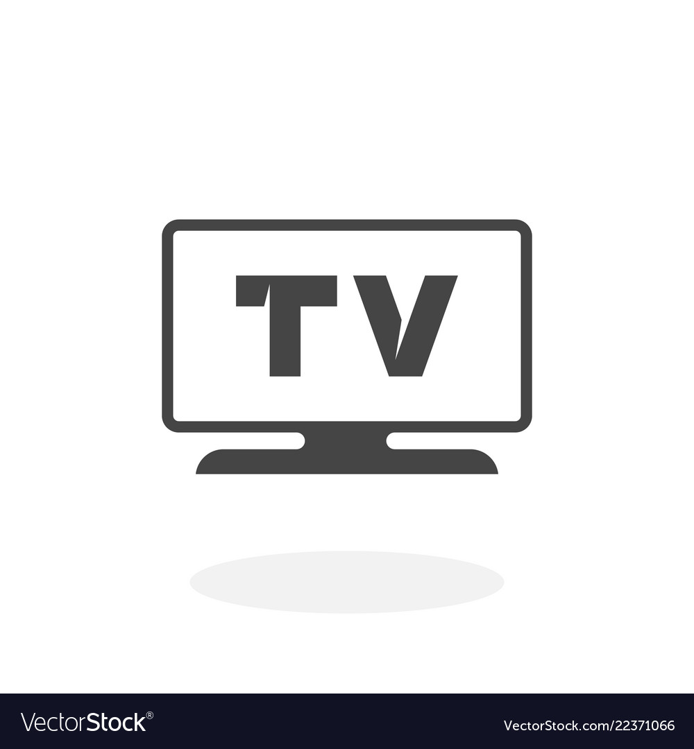 Tv icon logo on white background