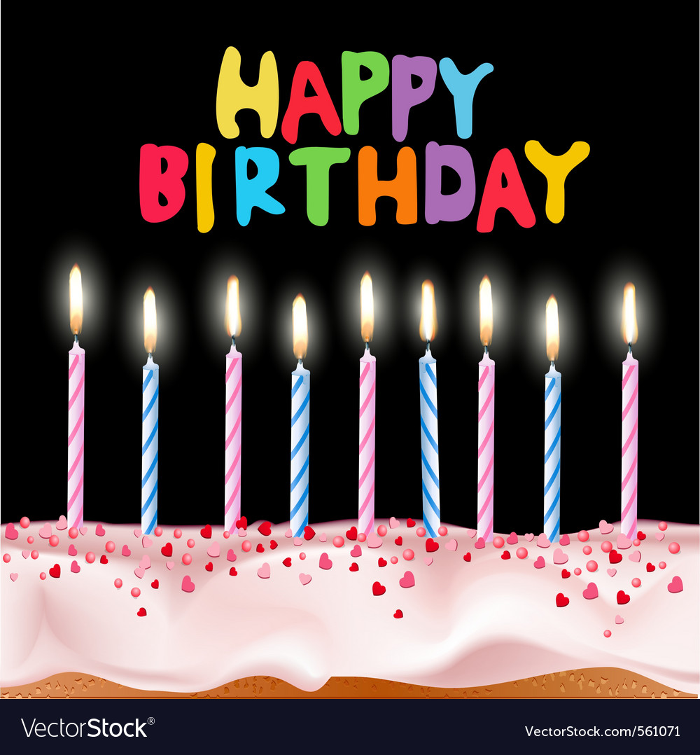 Happy birthday card vector 561071 by Alkestida | Royalt