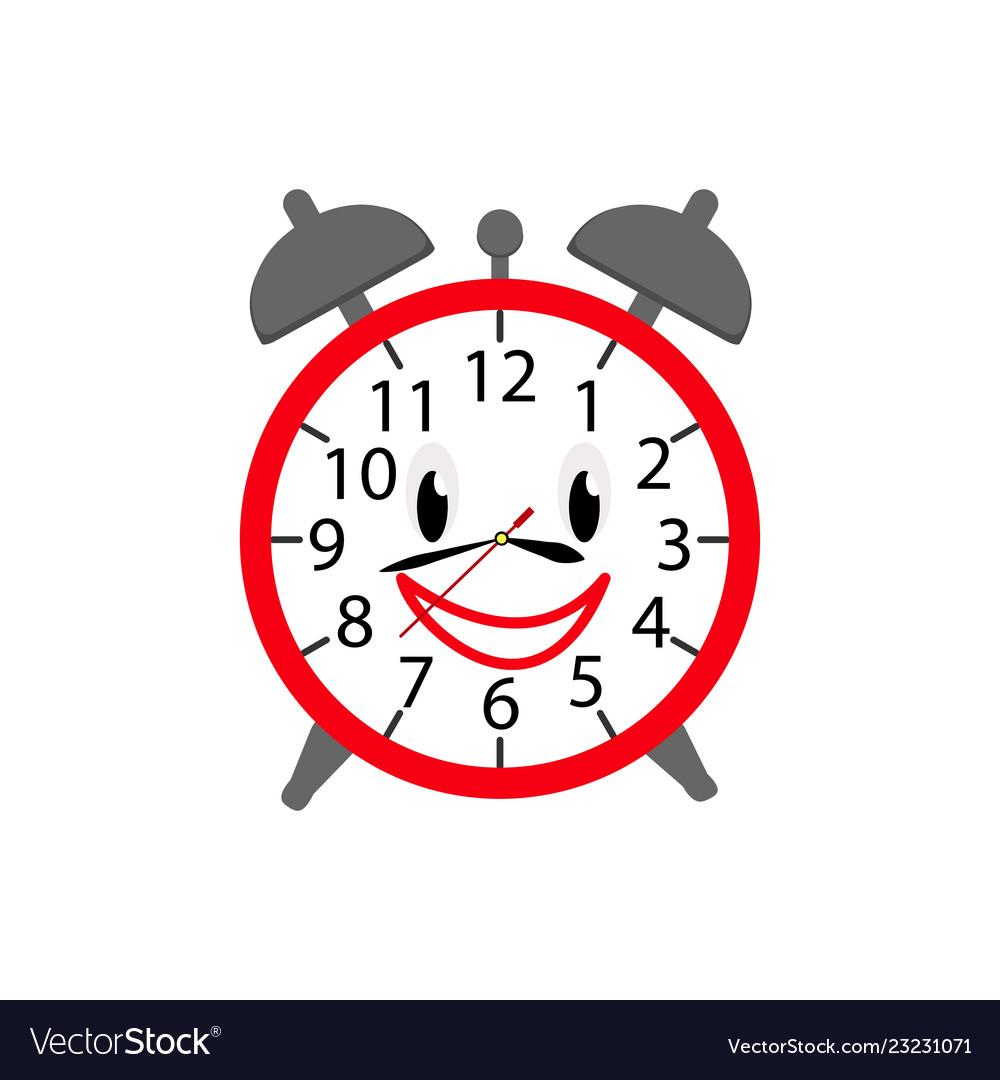 Alarm clock icon in color for children