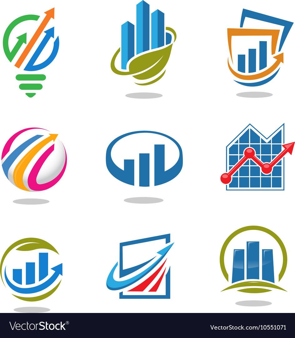 Best marketing logo set vector image
