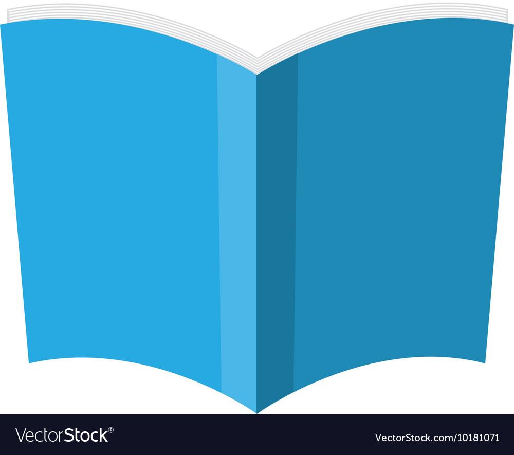 Book blue paper open icon graphic