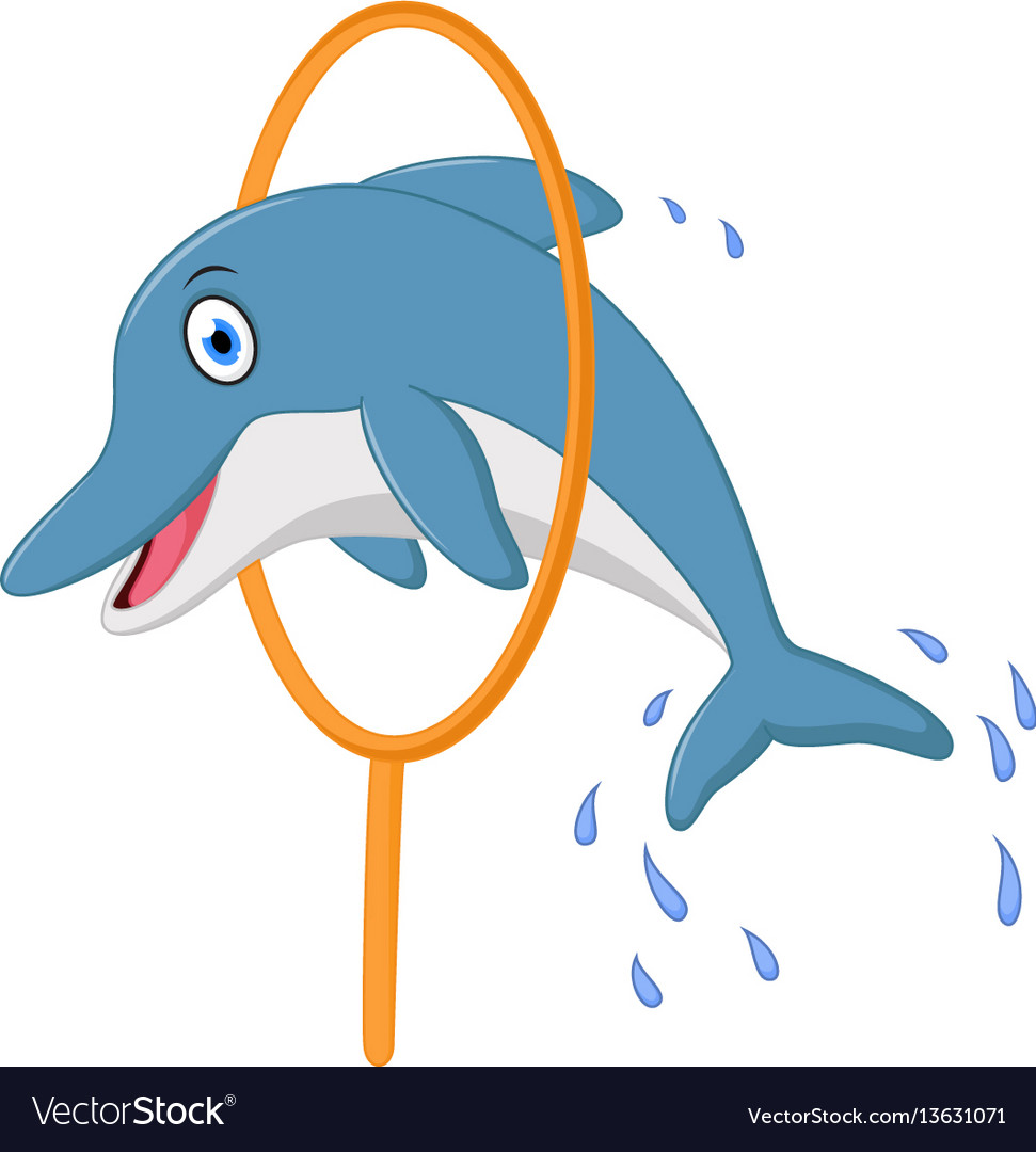 Dolphin jumping Vector Clip Art Royalty Free 2305