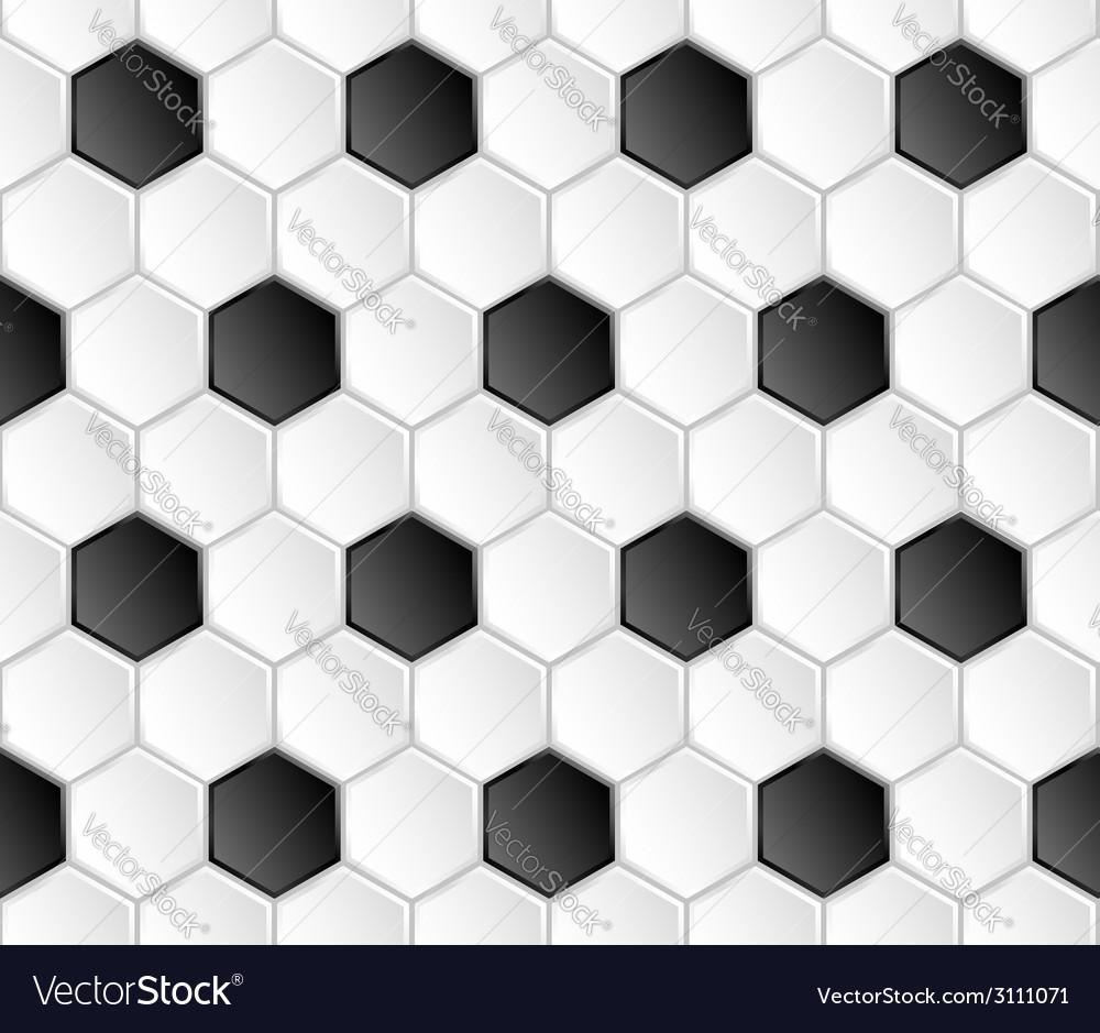 Geometric football seamless pattern