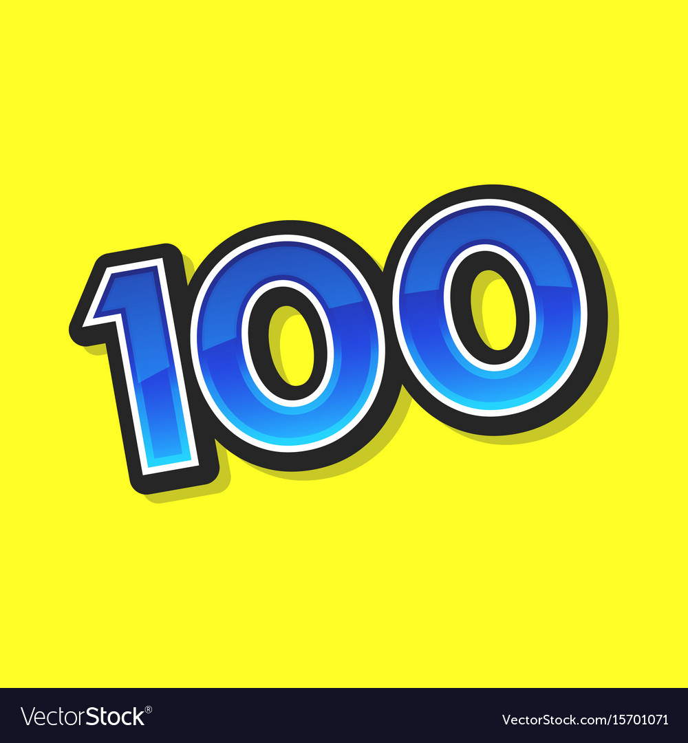 Number 100 vector image