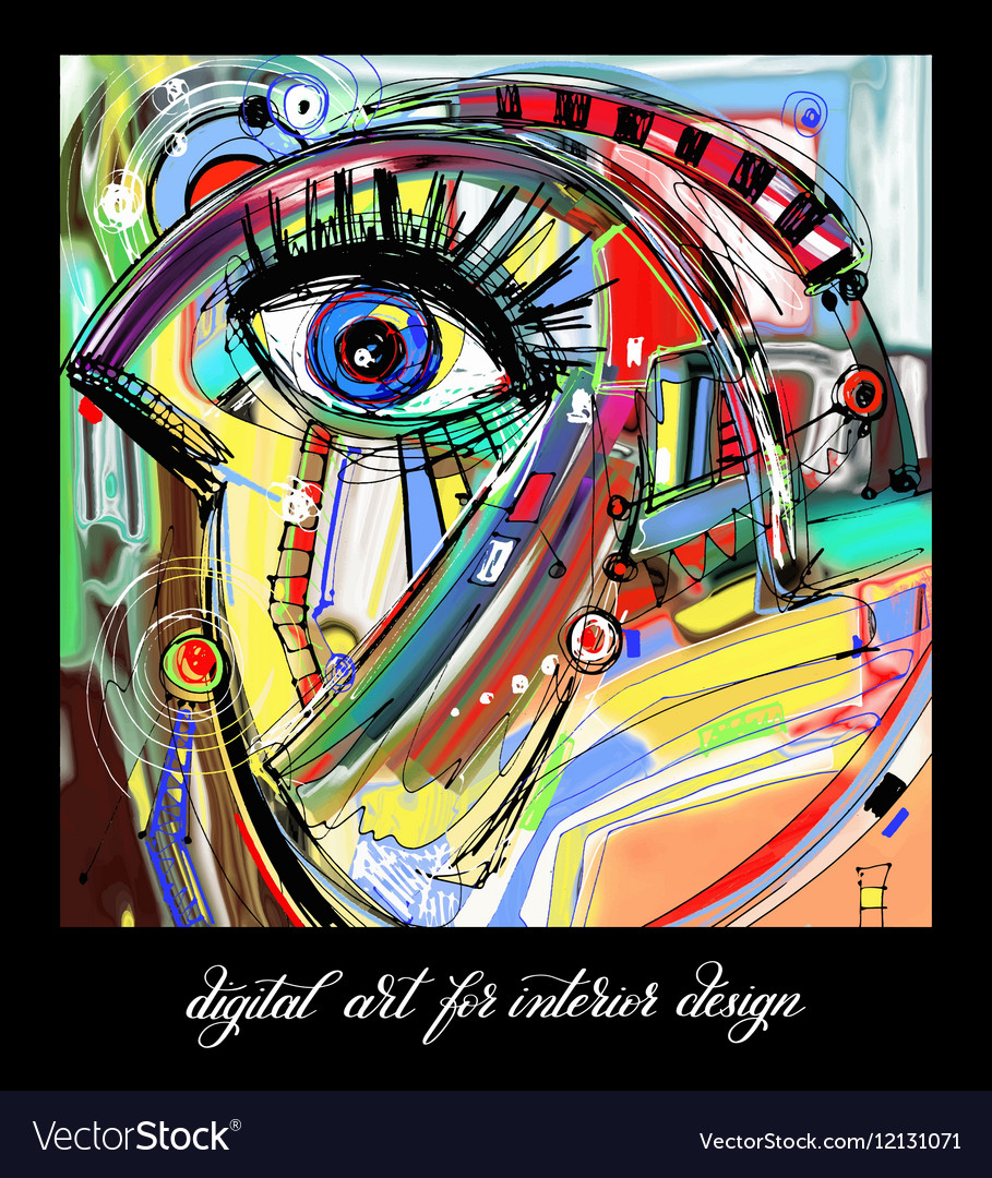 Original contemporary digital abstract painting