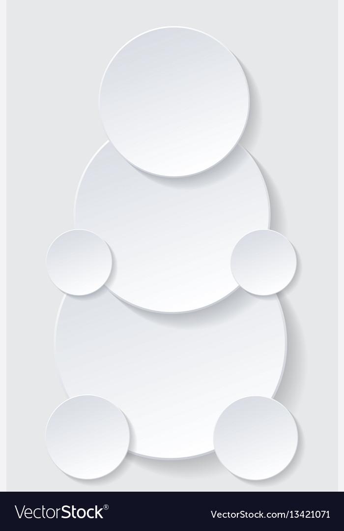 Paper circle with drop shadows