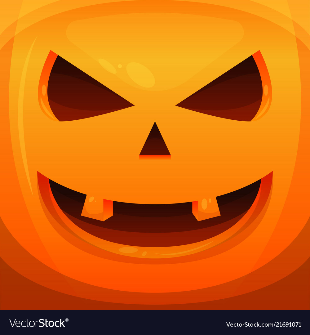 Pumpkin head halloween scary background