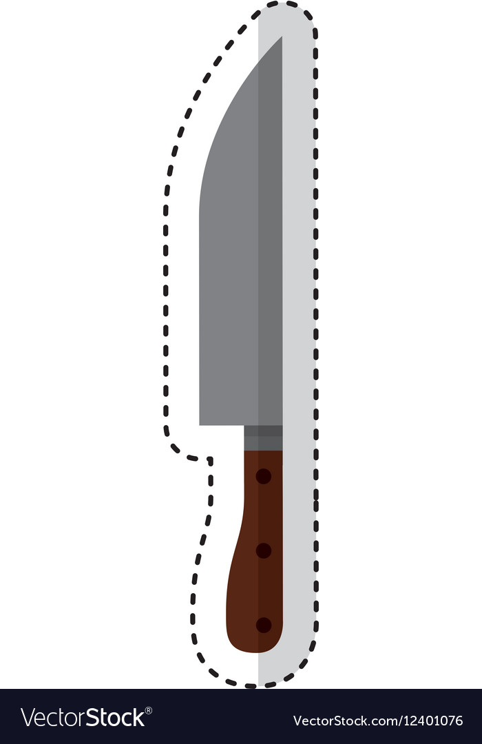 Butcher knife isolated icon