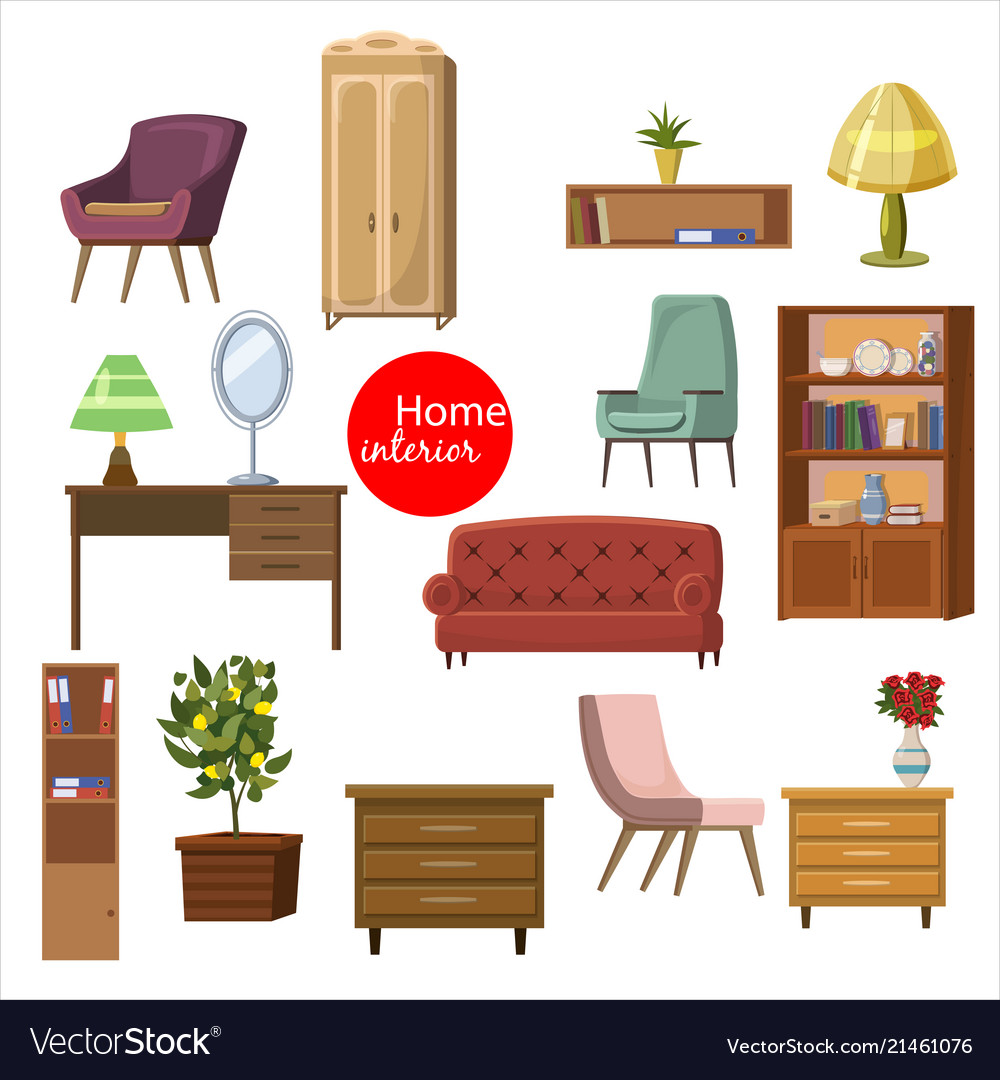 Collection set of elements designer trendy