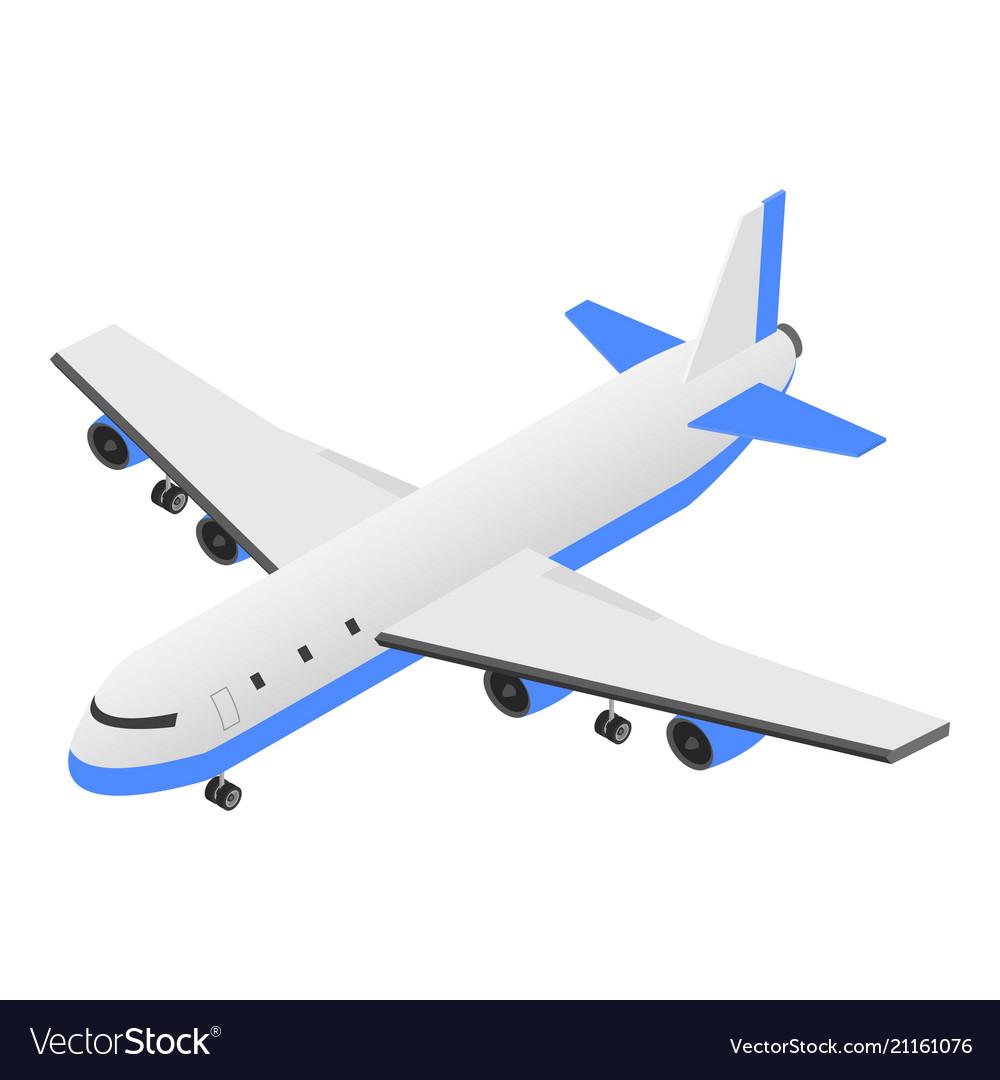 Delivery plane icon isometric style