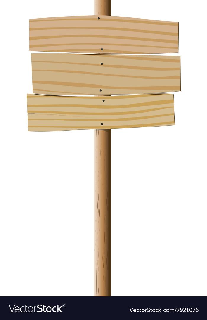 Empty wooden pointer vector image