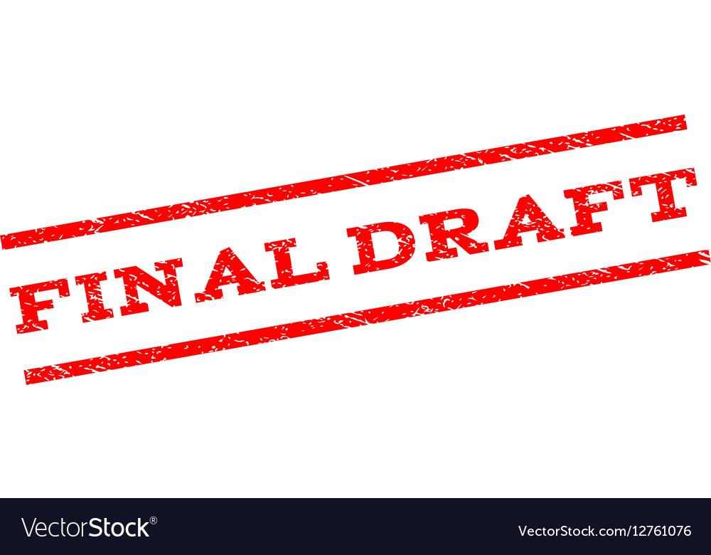 Final Draft Watermark Stamp vector image