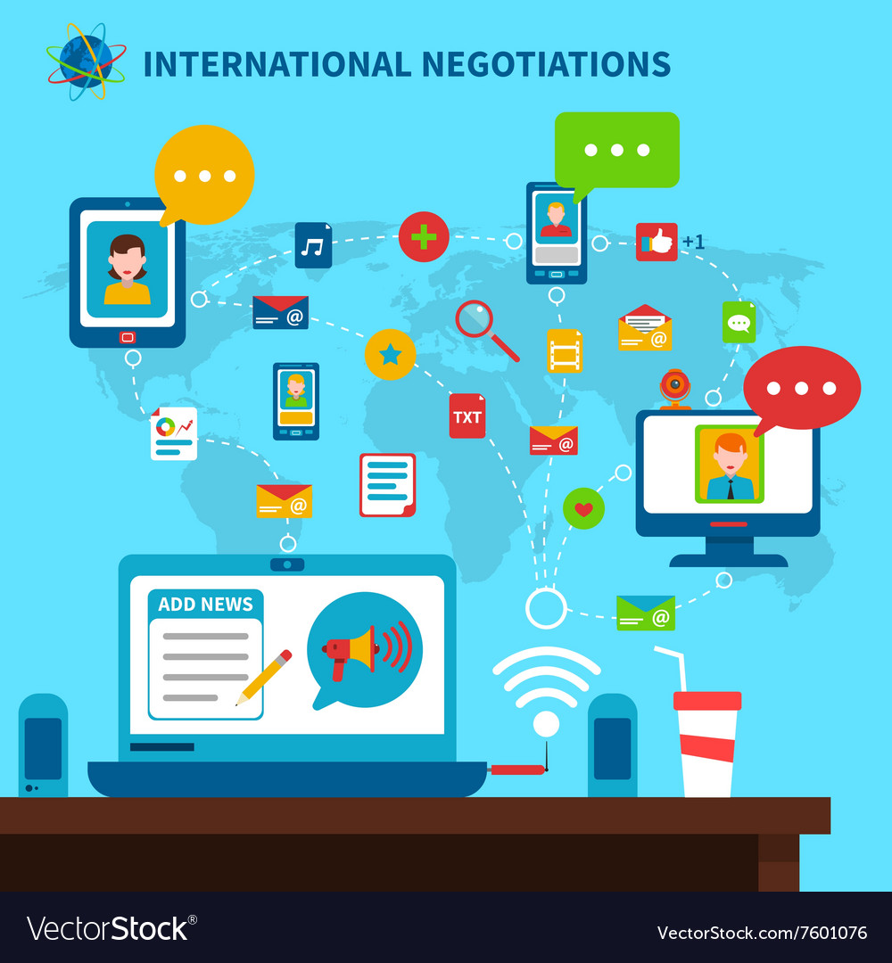 International Negotiations vector image