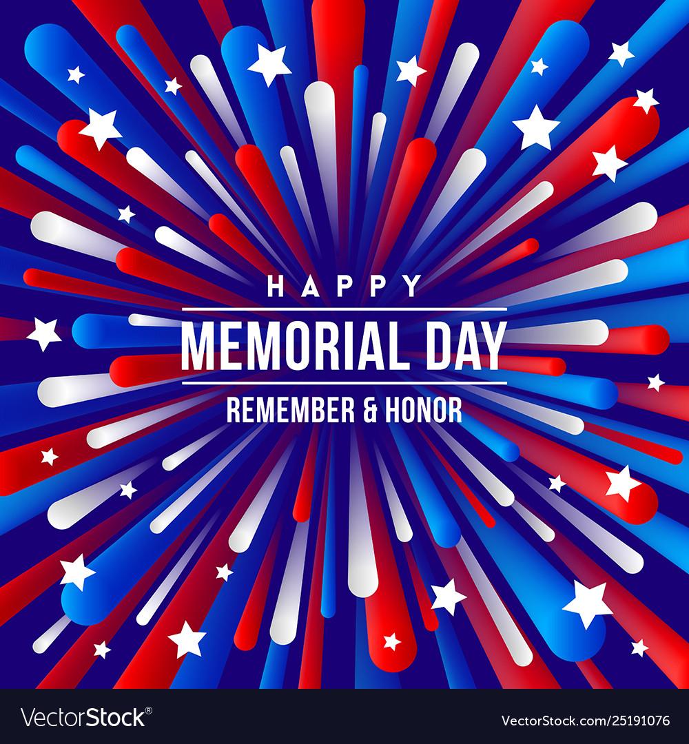 Memorial day - greeting design