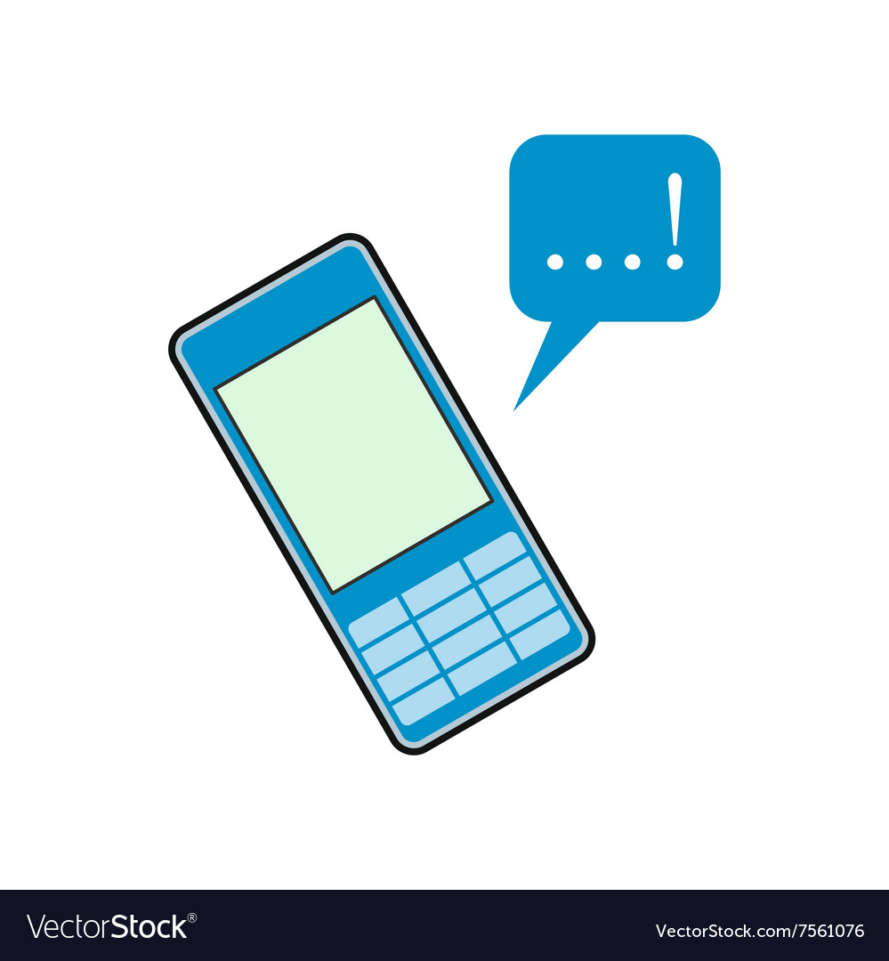 Mobile chatting flat icon