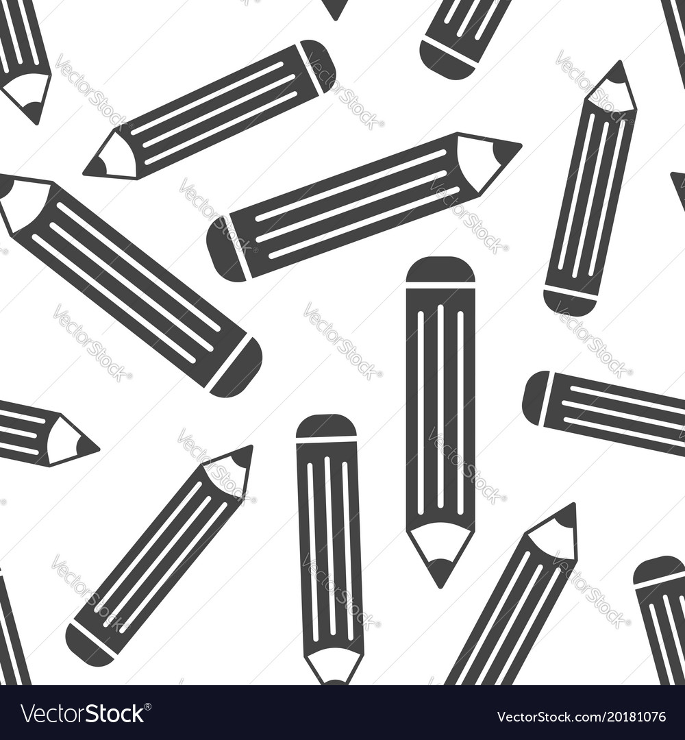Pencil seamless pattern background business flat