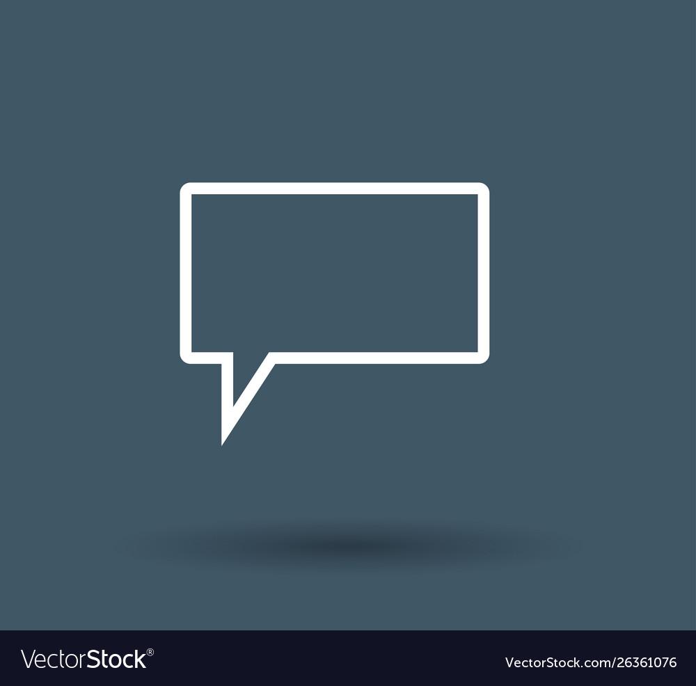 Speech bubbles icon on white background