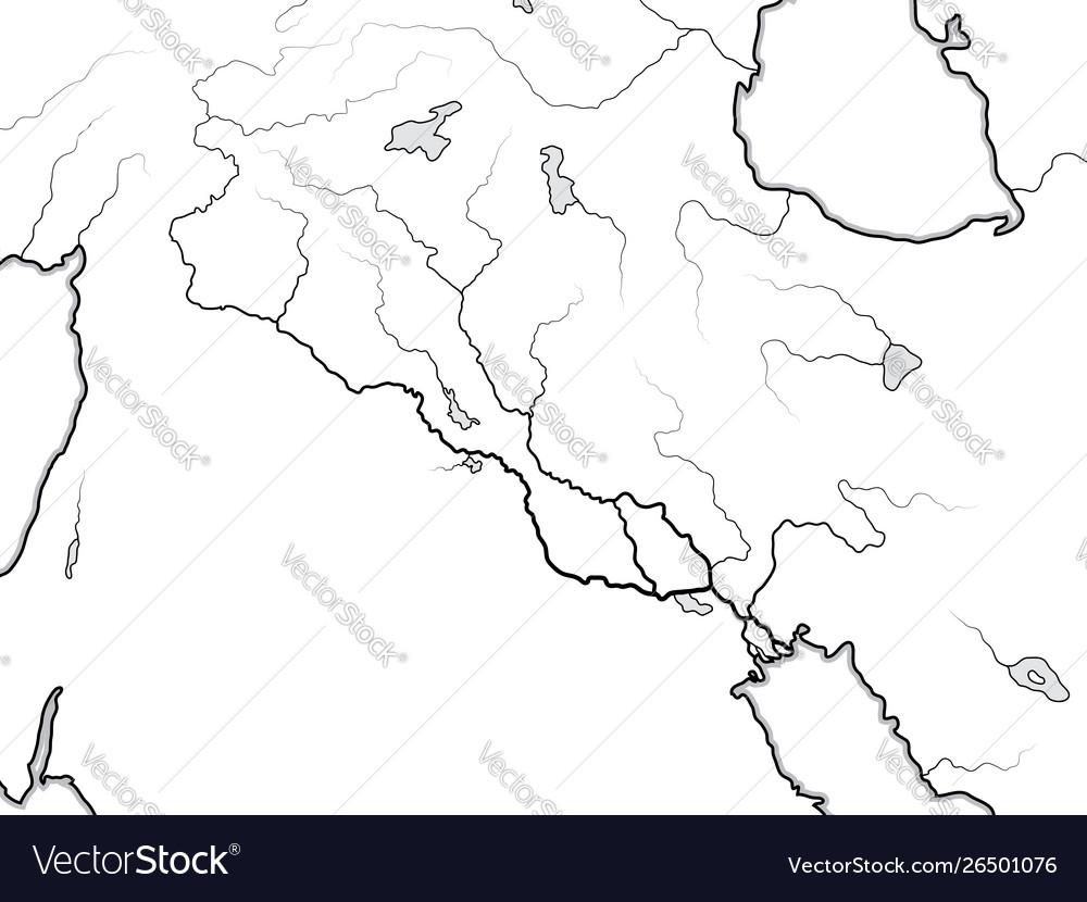 World map tigris euphrates valley iraq syria