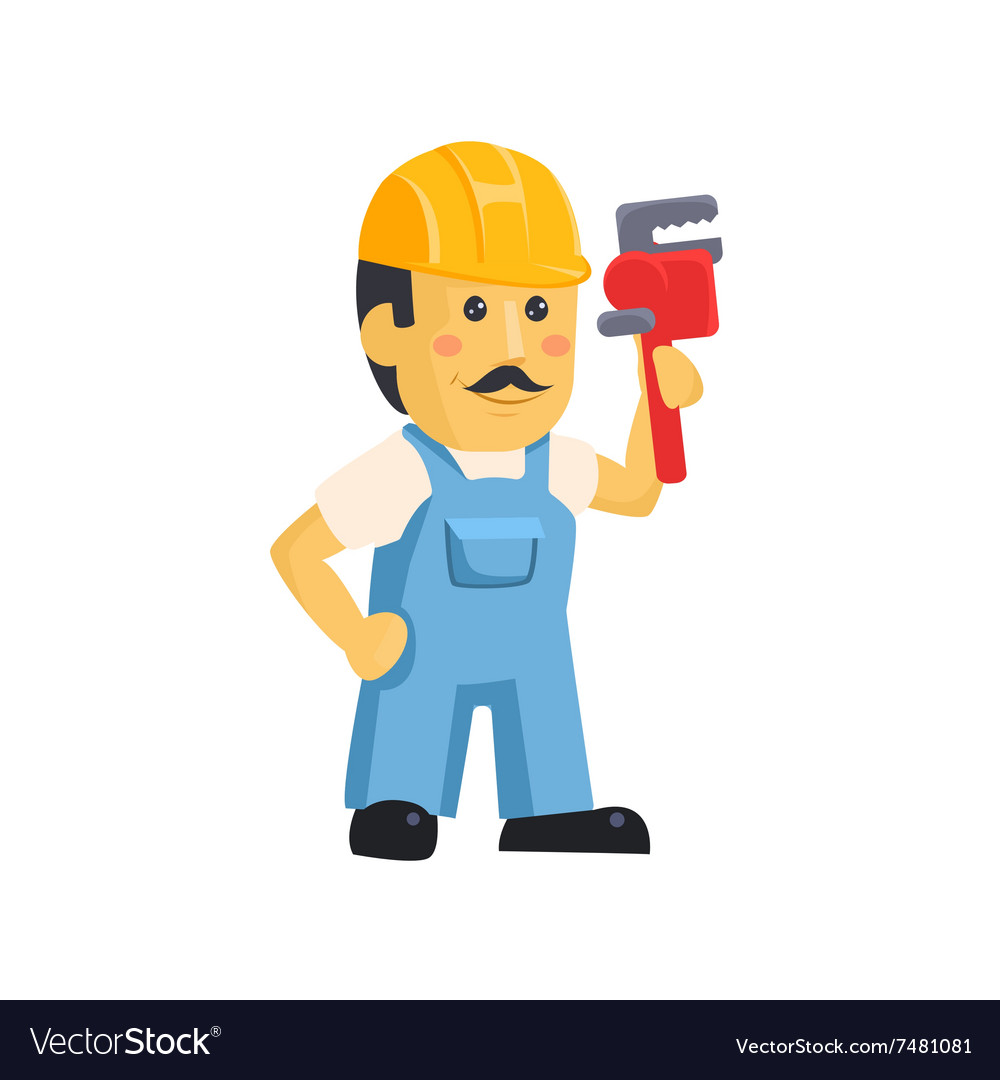 Clipart picture of a male mechanic cartoon