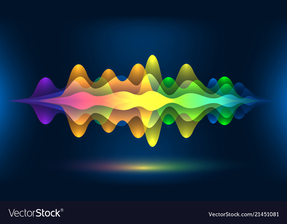 Colorful voice waves or motion sound frequency