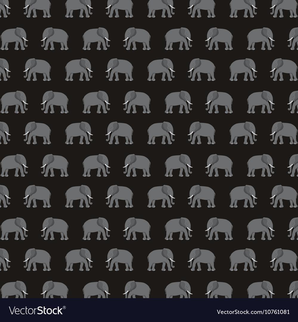 Elephant silhouette asian icon