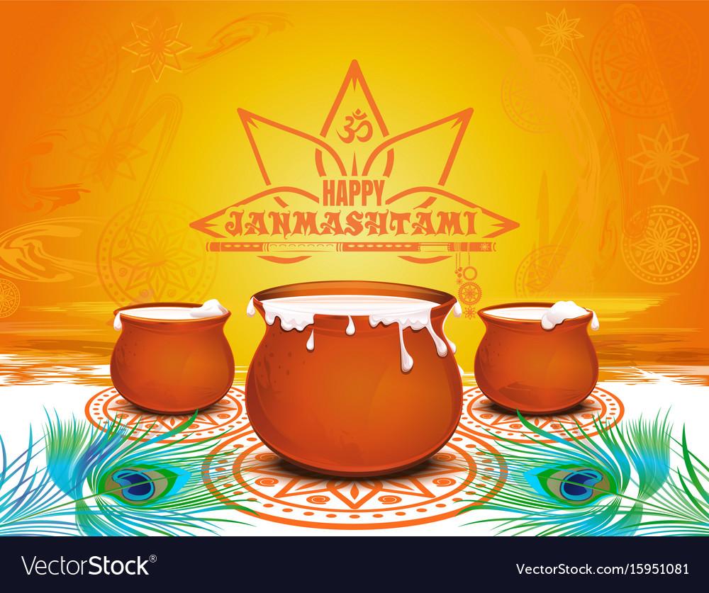 Festive background for krishna janmashtami