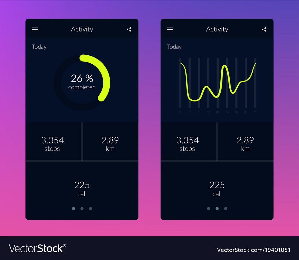 Fitness app ui ux design