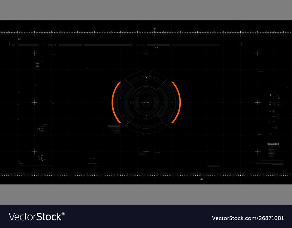 Futuristic user interface design element video