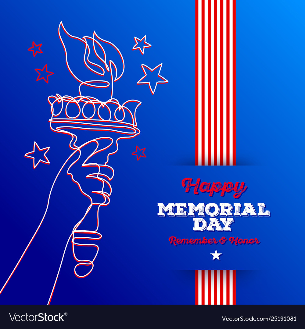Happy memorial day - greeting card