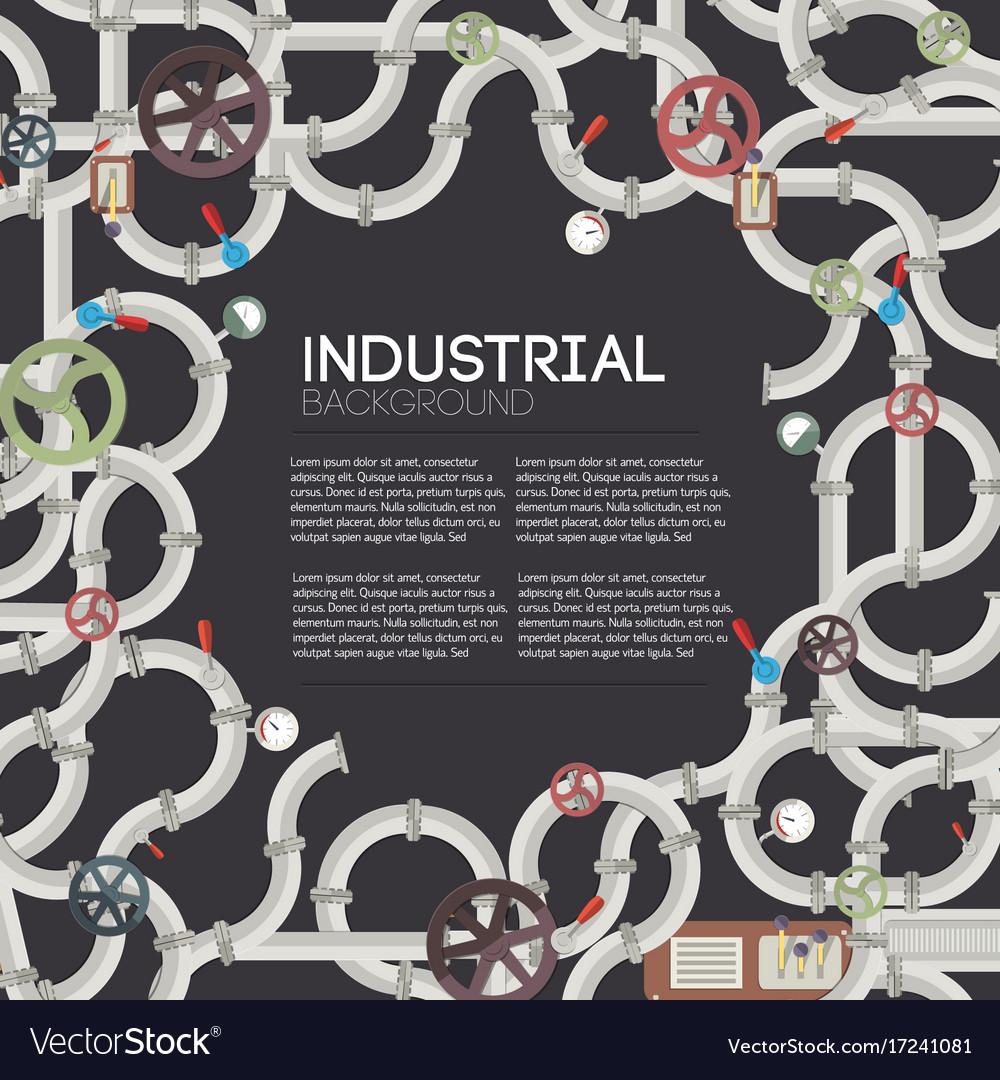 Industrial pipeline dark background