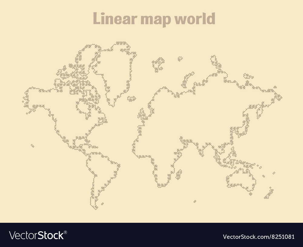 Map of Earth linear