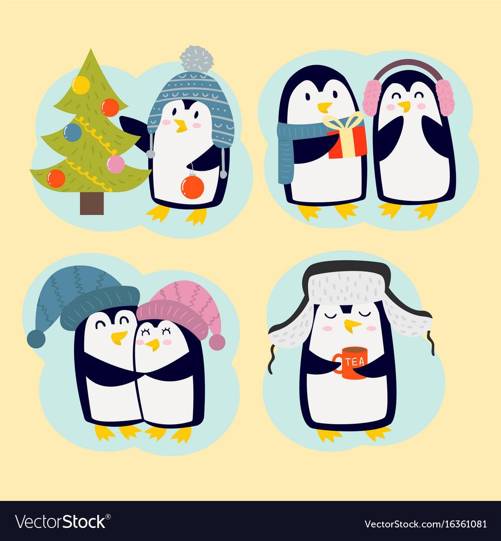 открытка маме на новый год пингвин смогли сблизиться даже