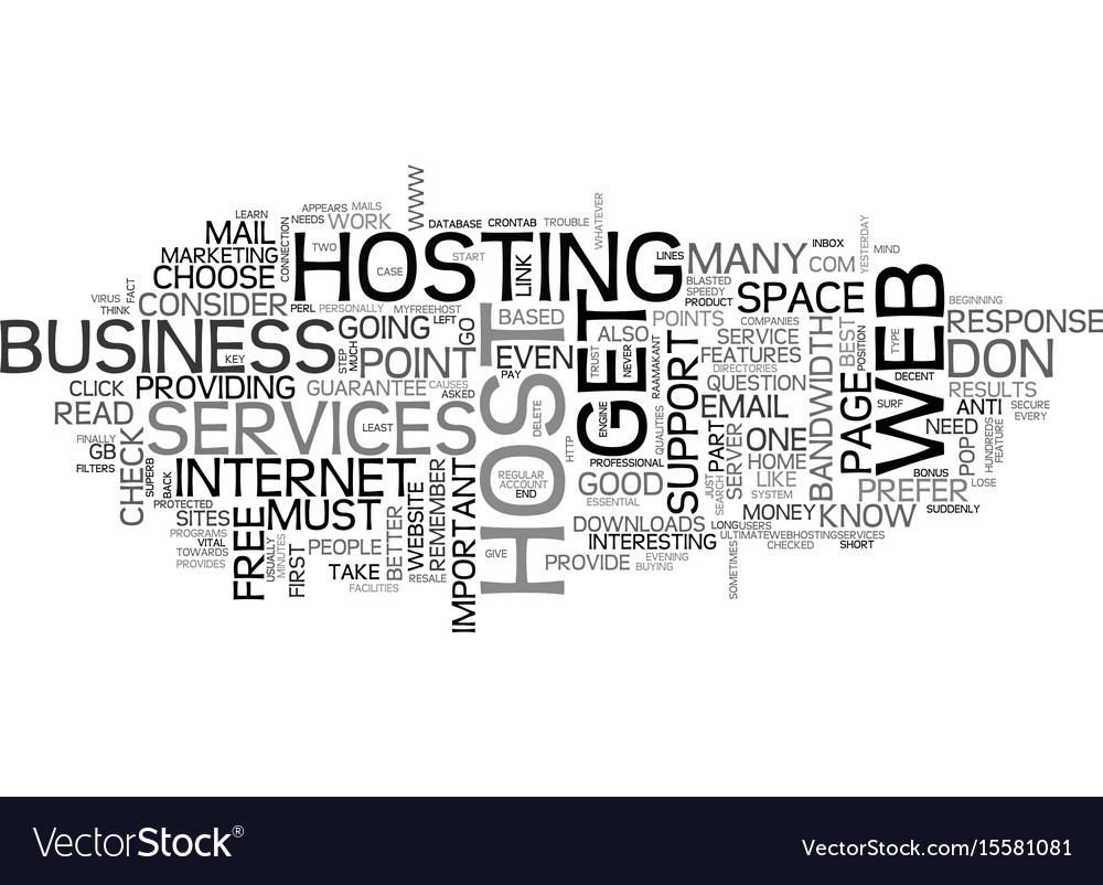 What you should know about your web host text vector image