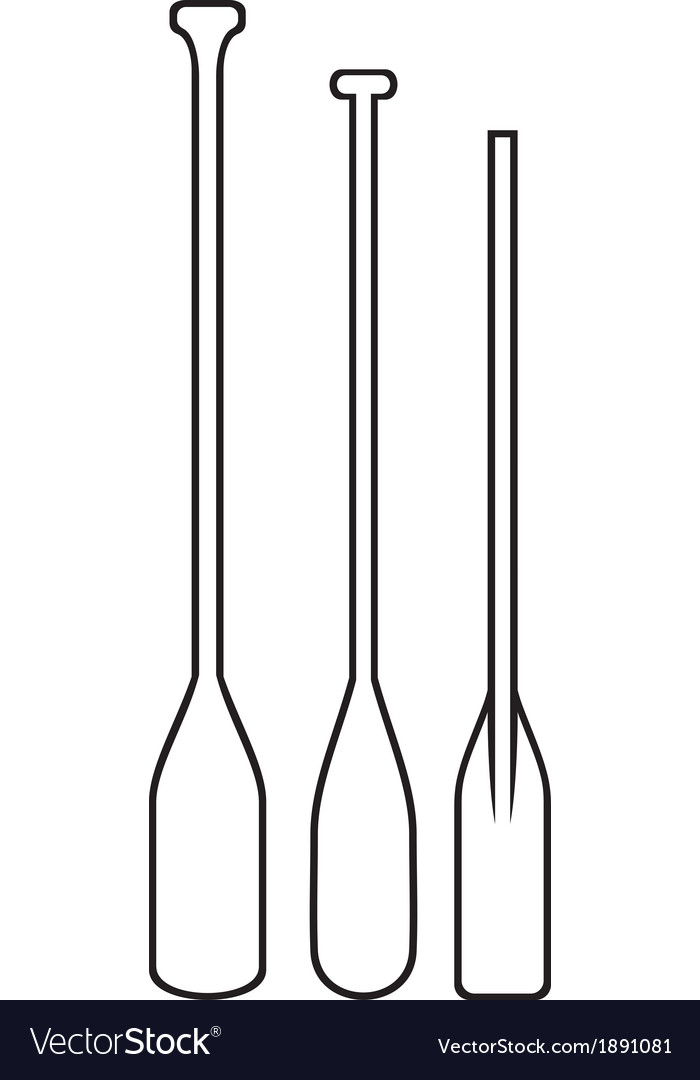 Wooden paddle vector image